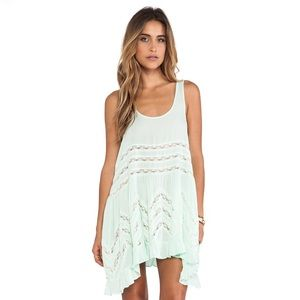Free People | Voile and Lace Trapeze Slip Dress
